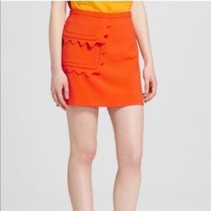 Victoria Beckham For Target Orange Mini Skirt XS